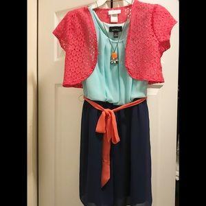 Used Amy's Closet Belted Dress & Youngland Bolero